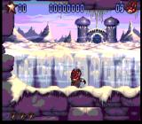 Aero the Acro-Bat 2 SNES Beautiful level. Aero is standing still in awe