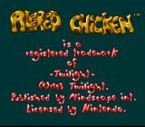 Alfred Chicken SNES Some copyright information