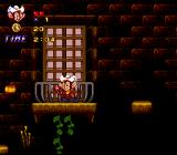 An American Tail: Fievel Goes West SNES Shooting from a balcony - how comfortable!