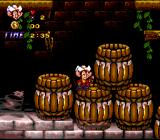 An American Tail: Fievel Goes West SNES Be careful, you take damage if you drop into a barrel with water