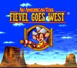 An American Tail: Fievel Goes West SNES Title screen