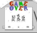 Animaniacs SNES Game Over screen