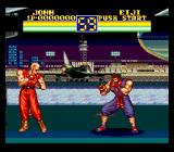 Art of Fighting 2 SNES John vs. Eiji battle: nice background!