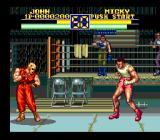 Art of Fighting 2 SNES Micky's arena is near a boxing ring