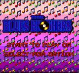 The Blues Brothers: Jukebox Adventure SNES Title screen