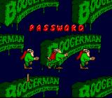 Boogerman: A Pick and Flick Adventure SNES Password selection screen