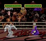 Clay Fighter 2: Judgement Clay SNES Frosty vs. Blob on Kangoo's arena