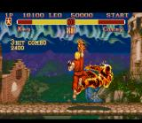 Super Street Fighter II SNES Ken Masters and his new flaming Shoryuken.