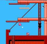 Mickey Mousecapade NES Climbing ladders on a pirate ship