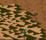 Desert Strike: Return to the Gulf SNES The tank lures behind the sands...