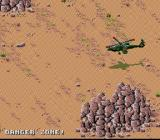 Desert Strike: Return to the Gulf SNES A rocky area