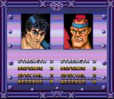 Double Dragon V: The Shadow Falls SNES Adjusting parameters before battle