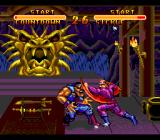Double Dragon V: The Shadow Falls SNES What a ounch! The ugly face in the background looks satisfied