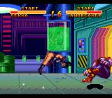 Double Dragon V: The Shadow Falls SNES Interesting acrobatics here in the Chemical Factory...