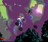 Earthworm Jim SNES Jumping on tires, enjoying the sunset...