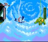 Earthworm Jim SNES Note the cool view of the sky