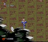 Earthworm Jim 2 SNES This level consists of... paper