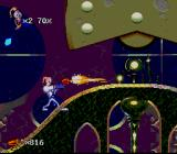 Earthworm Jim 2 SNES Jim is shooting