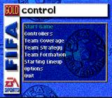FIFA Soccer 97 SNES Game menu