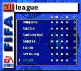 FIFA Soccer 97 SNES League standings