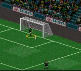 FIFA 98: Road to World Cup SNES The goaltender couldn't stop that penalty kick...