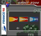 FIFA 98: Road to World Cup SNES Selecting a zone
