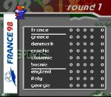 FIFA 98: Road to World Cup SNES Standings, round 1