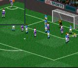 FIFA 98: Road to World Cup SNES Corner kick. It's getting dangerous, guys!