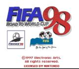 FIFA 98: Road to World Cup SNES Title screen