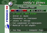 FIFA 98: Road to World Cup Genesis The computer plays other matches in the tournament itself