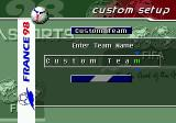 FIFA 98: Road to World Cup Genesis Creating your own team