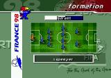 FIFA 98: Road to World Cup Genesis Choosing a formation