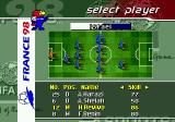 FIFA 98: Road to World Cup Genesis Choosing your players. Revivo was still playing for Israel at that time...