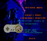 Flashback: The Quest for Identity SNES Options menu