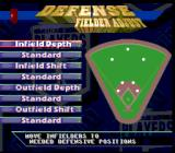 Frank Thomas Big Hurt Baseball SNES Choosing your kind of defense