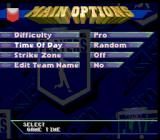 Frank Thomas Big Hurt Baseball SNES Options