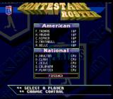 Frank Thomas Big Hurt Baseball SNES Contestant roster