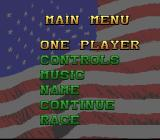 Full Throttle: All-American Racing SNES Main menu