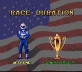 Full Throttle: All-American Racing SNES Race options