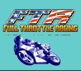 Full Throttle: All-American Racing SNES Title screen