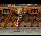 Super Street Fighter II SNES Bonus Stage 3: 20 barrels will fall into you and to avoid bad consequences, smash all of them!