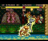 Super Street Fighter II SNES The wild Blanka and his classic shocking move Electric Thunder.