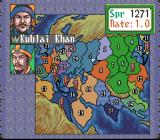 Genghis Khan II: Clan of the Gray Wolf SNES Choosing your nation