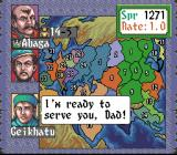 Genghis Khan II: Clan of the Gray Wolf SNES Spending time with your family