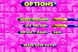 Banjo Pilot Game Boy Advance Options screen.
