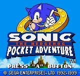 Sonic The Hedgehog Pocket Adventure Neo Geo Pocket Color Title screen.