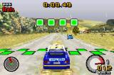 Top Gear Rally Game Boy Advance Peeling out in the start line.
