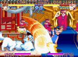 Kabuki Klash Neo Geo Using her magical strong attack, Kinu has a good advantage now.