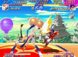Kabuki Klash Neo Geo To intercept Manjimaru's possible counter-attack, Yagumo uses a stylish strong kick.