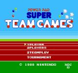 Super Team Games NES Title screen